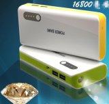 Li-ion del Banco de energía móvil 16800mAh cargador de teléfono con LED.