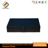 Gemelos Joyero Vitrina de cuero negro de almacenamiento multimedia
