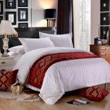 高級ホテル(JRD800)のための贅沢3cmの縞のシーツの寝具セット
