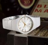 Cerâmica Branca de alta qualidade homens Assista Fashion Auto Data Analog Quartz assista com os homens de luxo da marca superior da caixa Relógios de pulso