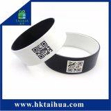 Wristband su ordinazione di figura della vigilanza del braccialetto del silicone di codice di Qr (TH-08850)