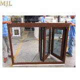 El mejor precio Nwe revestido de diseño de bastidor de aluminio de madera Ventana Bifold