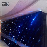 Rk estrella LED Cortina cortinas de terciopelo negro con luces LED