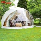 Grande tenda della cupola per gli eventi esterni del partito di celebrazioni con la struttura di figura della sfera