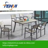 Patio Gaden Hotel Home Office mobiliário de madeira de alumínio cadeira e mesa de jantar