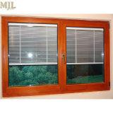 붙박이 눈 먼 셔터를 가진 알루미늄 합성 나무로 되는 여닫이 창 Windows