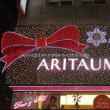 La nueva cinta de hermosa decoración luz LED Navidad decoraciones Mall llevó enorme arco
