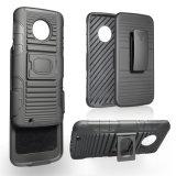 Hochleistungsrüstungs-Schlag-Beweis-Riemen-Klipp-Pistolenhalfter Kickstand kombinierter Fall für Motorola G6