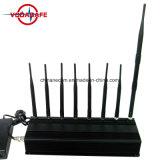 Восемь антенны сигнал блокировки всплывающих окон для 2g+3G+4G+2.4G+кражи Lojack+пульт дистанционного управления, 3G CDMA GPS сигнал сотового телефона Jammer valve (давления3060)