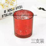 Bunter Spray-rundes Kerze-Glasglas