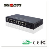 100Mbps 1 Fx + 8 Fe Ports Fast Ethernet Switch Media Converter