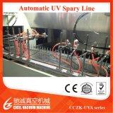 O revestimento UV da máquina UV automática da pintura com pistola do pulverizador Line/UV que metaliza para o cosmético tampa a máquina de pulverização ultravioleta plástica material de ABS/PP