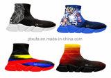 2017 peúgas feitas sob encomenda elegantes calç as sapatilhas superiores elevadas do esporte das mulheres dos homens