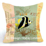 Shell van de decoratie het Vierkante OceaanKussen W/Filling van de Stof van het Decor van het Ontwerp