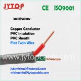 Isolation en PVC double câble plat