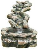 De antieke Steen kijkt het OpenluchtLicht van de Fontein W/LED van het Water van de Tuin Polyresin