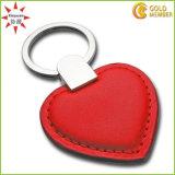 PVC de fábrica personalizada de alta calidad Llavero rojo del corazón