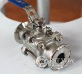 De Hand Geschroefte 3PC Kogelklep van het roestvrij staal