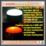 방수 재충전용 5W LED 일 빛 S.O.S. 가벼운 3.7V4400mAh 리튬 건전지