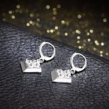 형식 925 은에 의하여 도금되는 지르콘 귀걸이 다이아몬드 펀던트 귀걸이