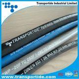 Un boyau en caoutchouc hydraulique R1/1sn de tresse de fil d'acier de couche