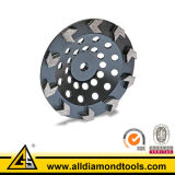 Tipo roda de moedura da seta do copo do diamante para o concreto