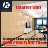 mattonelle sottili della parete della porcellana Polished di spessore di 400X800X5.5mm per l'interiore e l'esterno