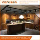 フランスの国様式ライトカシの純木の食器棚