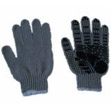 13 breide het Grijze Koord van de Veiligheid van de maat Handschoen met pvc Gestippelde Handschoen (jmc-430B)