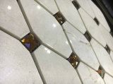 Mattonelle di mosaico di pietra di marmo grige del diamante