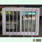 Ventana de desplazamiento de UPVC con la red de Buglar del acero inoxidable, ventana de UPVC, ventana del PVC, ventana K02085