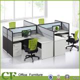 [مودر] تصميم طاولة خشبيّة [فونريتثر] 3 مقادات مكتب مركز عمل حجيرة