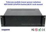Batería de los ciclos 48V 50ah LiFePO4 de la venta al por mayor 2000 de la fábrica