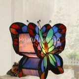 Butterfly vitrail Tiffany éclairage Butterly lampe de table Décoration de lampe en verre au plomb