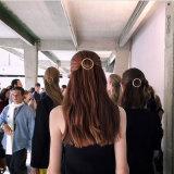方法金カラー円形のヘアークリップの金属のヘアピン毛の宝石類