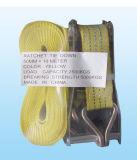 100% Polyester Cargo Lashing avec sangle jaune