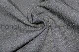 Il filato ha tinto il tessuto di T/R, singolo parteggiato spazzolato, tessuto della saia, 63%Polyester 33%Rayon 4%Spandex, 255GSM