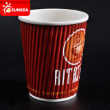 Taza de Papel Caliente Impresa Insignia de Encargo del Té/del Café