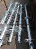 Type Q345 de tube soudant le pilier d'attache de vis hélicoïdale