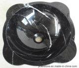 De opgepoetste Zwarte Ceramische Natuurlijke Gootsteen van het Graniet van het Bassin voor de Keuken van de Badkamers