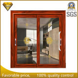 Двойная стеклянная раздвижная дверь профиля 6063-T5 алюминиевого сплава конструкции