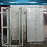2 painéis para 8 painéis de alumínio porta dobrável com cor