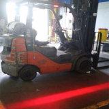 6 pouces 10-80V 18W Red Zone de danger Osram LED feux d'avertissement de sécurité pour chariot élévateur à fourche