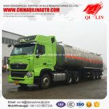 Produits chimiques liquides Tanker semi-remorque avec couche isolante