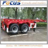 20 40 Fuß Behälter-Transport-skelettartiger Rahmen-LKW-Sattelschlepper-