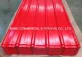 3層波形UPVCの屋根ふきシートカラー上塗を施してあるプラスチック波形の耐熱性PVC屋根ふきシート