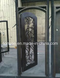 Portelli caldi del ferro del portello dell'entrata unica dell'oro per la villa