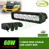 barre tous terrains d'éclairage LED de CREE de 11inch 60W pour le camion de jeep