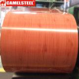 나무로 되는 모방된 PPGI 색깔에 의하여 입히는 아연에 의하여 입히는 강철 코일