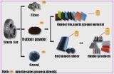 保証2年のの機械ゴム製粉砕機をリサイクルするXkp560